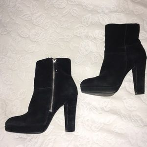 H&M Black Suede Ankle Boots